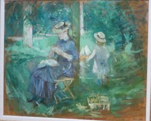 Berthe Morisot - Mère et Enfant au Jardin (1884)